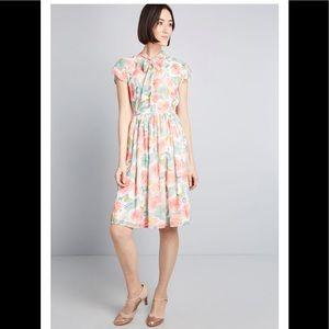 NWOT ModCloth Floral Midi Dress
